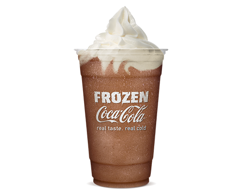 coke and burger king Burger king invites customers to cool down with a refreshing frozen coke or frozen fanta lemonade for $1 at participating locations.